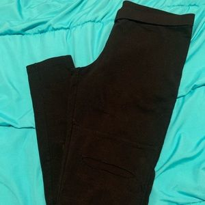 Nordstrom BP black distressed leggings